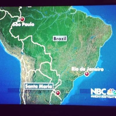 insidegendryspants:  aramatientediada:  OMG SÃO PAULO!!!!!! Where you are going?  Let's talk about how far they got with São Paulo's location. C'mon NBC, at least a research before your news :D