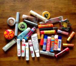 It has come to my attention that I possess a surplus of mouth balms.