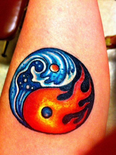 "fuckyeahtattoos:    A Yin Yang tattoo meaning balance in everything in the universe. According to legend the Yellow Emperor said: ""The principle of Yin and Yang is the foundation of the entire universe. It underlies everything in creation. It brings about the development of parenthood; it is the root and source of life and death it is found with the temples of the gods In order to treat and cure diseases one must search for their origins.""Done by Christina Christie"