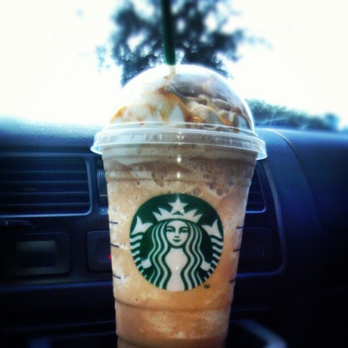 Always on point! #caramelfrappuchino #starbucks #coffee