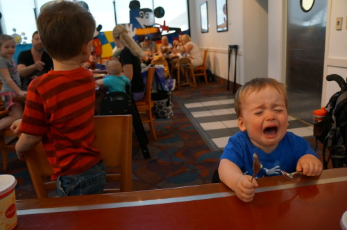 reasonsmysoniscrying:  We took him to a special meal at Chef Mickey's restaurant so he could meet all of his favorite Disney Characters.  This is completely not stroke related but  I love this blog and more importantly, I LOVE DISNEY