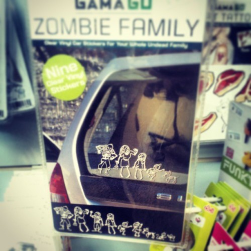 Actual cool #familycarstickers #zombies