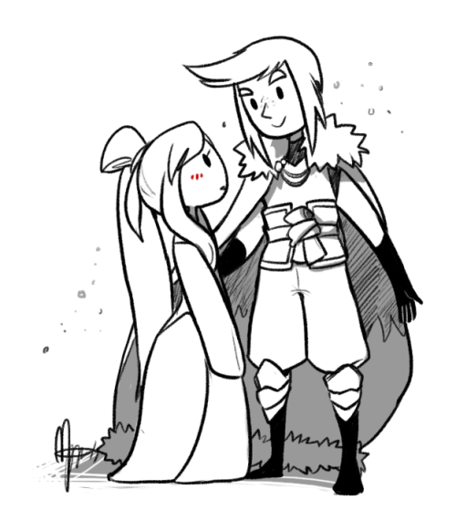 The princess queen and the knight I'm too tired for IC art atm