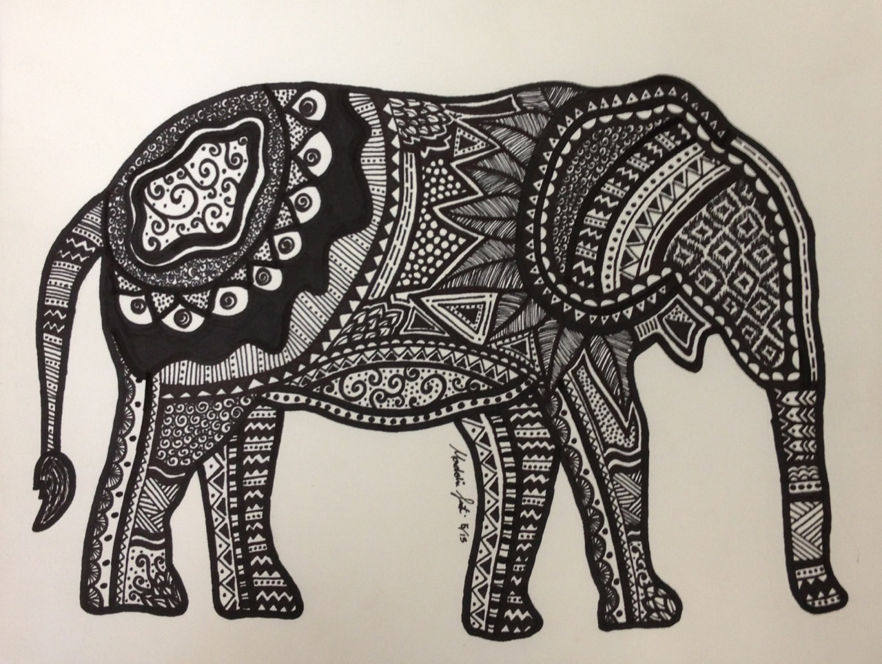 live-to-dreamm:  my elephant drawing