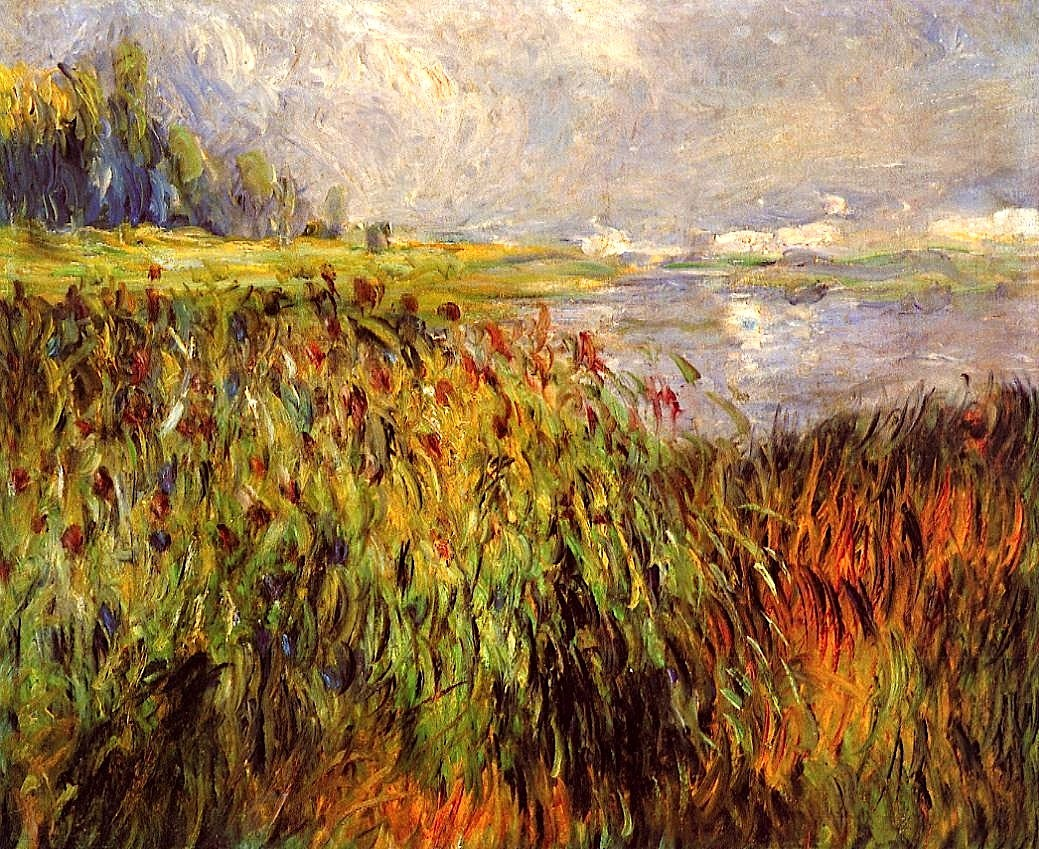 bofransson:  Bulrushes on the Banks of the Seine Pierre Auguste Renoir - 1874