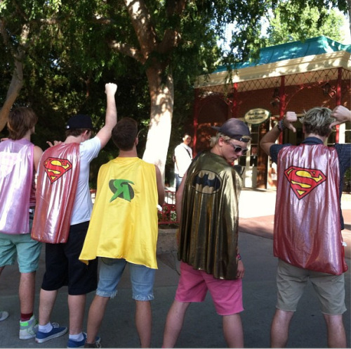 """Batman = me,  Superman= @rikerR5 & @rylandr5,  Superwoman = @rockyR5,  and of course Robin = @matthew_kaz"""