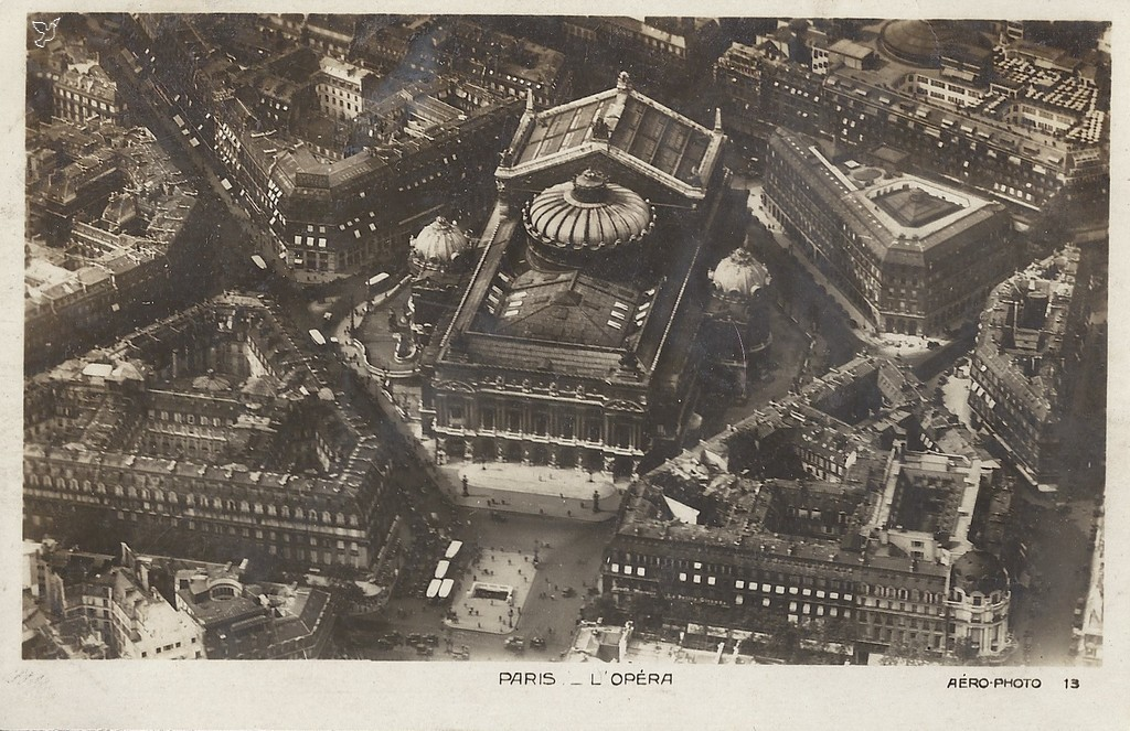 Aerial view of the Opera House, Paris
