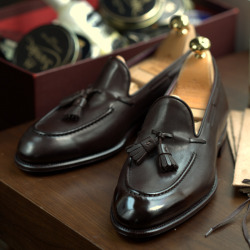 Classic Brown Tassel Loafers by Carmina at the Armoury