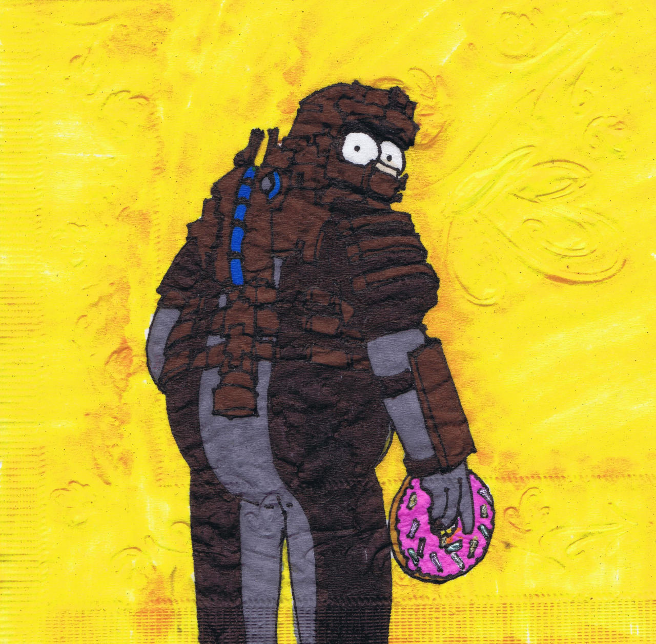 Dead Space Homer?  New napkin art.