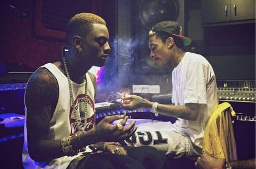 towerstreetwear:  Wiz and Soulja Boy in the studio!