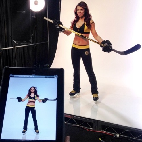 Bruins Ice Girl Mariana poses during their annual photo shoot @TDGarden. #nhlbruins