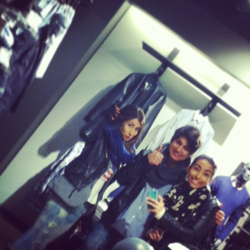 shopping with my boyfriend and his sis'. we had an awesome time! she def has a sense of style!
