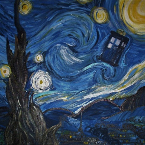 hawkadoodledoo:  Starry Night in the TARDIS 2.0 I've updated my Redbubble with resized images of Starry Night in the TARDIS and Exploding TARDIS! So there's a ton more products available: iphone & ipad cases, hoodies, stickers, posters, etc. You should check it out!