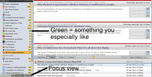 screenshot of Newsblur