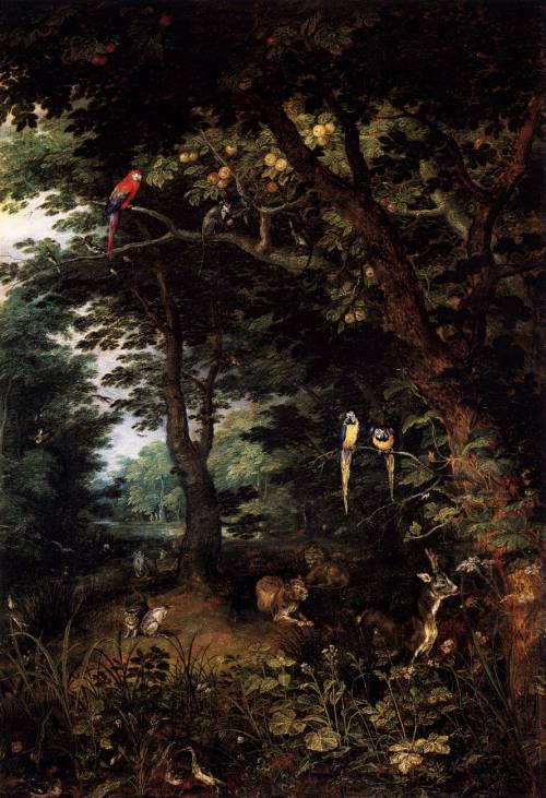 Jan Brueghel the Elder, The Earthly Paradise, c.1620