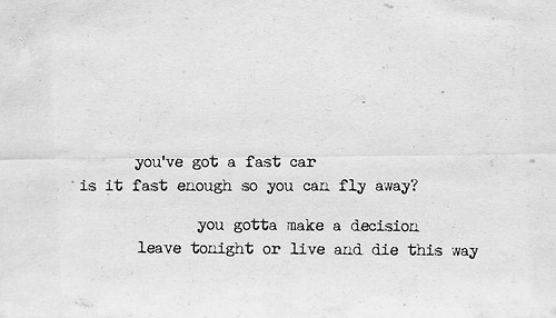 "i-am-mrs-nesbitt:  Tracy Chapman, ""Fast Car"""