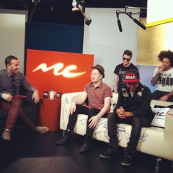 We're live with @falloutboy on an all new #MCUandA! #falloutboy #music #instagood #picoftheday