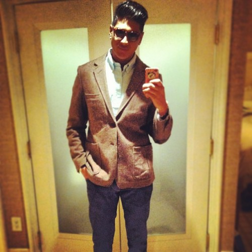 Ready to hit the club #vegas #vegasbaby #thestrip #dapper #tweed #ralphlauren #onlytimeiwilldoaselfie #stag #bachelor #instamood #portrait