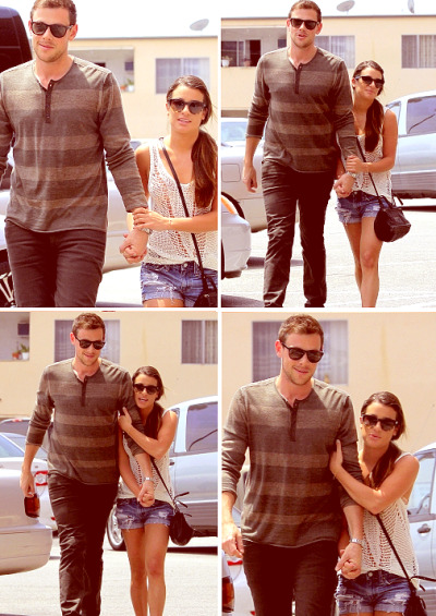 ninaleakstew-princess:  Lea & Cory (Have breakfast At the Griddle Café 21 May.2013)