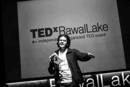 "Here is Irfan Ali(Khudi Ali) at TEDxRawalLake who lost his life in bomb blast in Quetta along with 97 people. Irfan Ali was a famous activist who in his own words was ""born to fight for human rights and peace. My religion is respect and love all the religions""At TEDxRawalLake, Irfan Ali came up from the audience to give his idea, he pointed out the issue of taking things for granted in the name of 'kun k yeh Pakistan hai"", Ending his speech passionately with the words ""Yeh sirf pakistan nai hai, Ye mera mulk hai, Ye mera Pakistan hai, ye humara Pakistan hai"" We Will Miss you Irfan Ali, God Bless you."