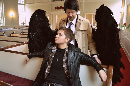 angels are watching over you. dean / castiel / photographer