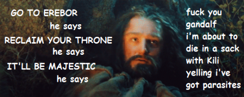 thorinissomajestic:  thorin probably wishes this bit hadn't made the movie