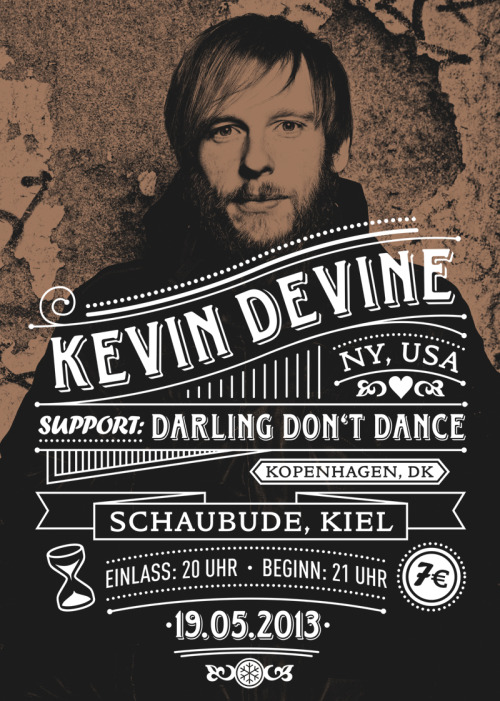 druckwelle:  Poster & Flyer for KEVIN DEVINE!