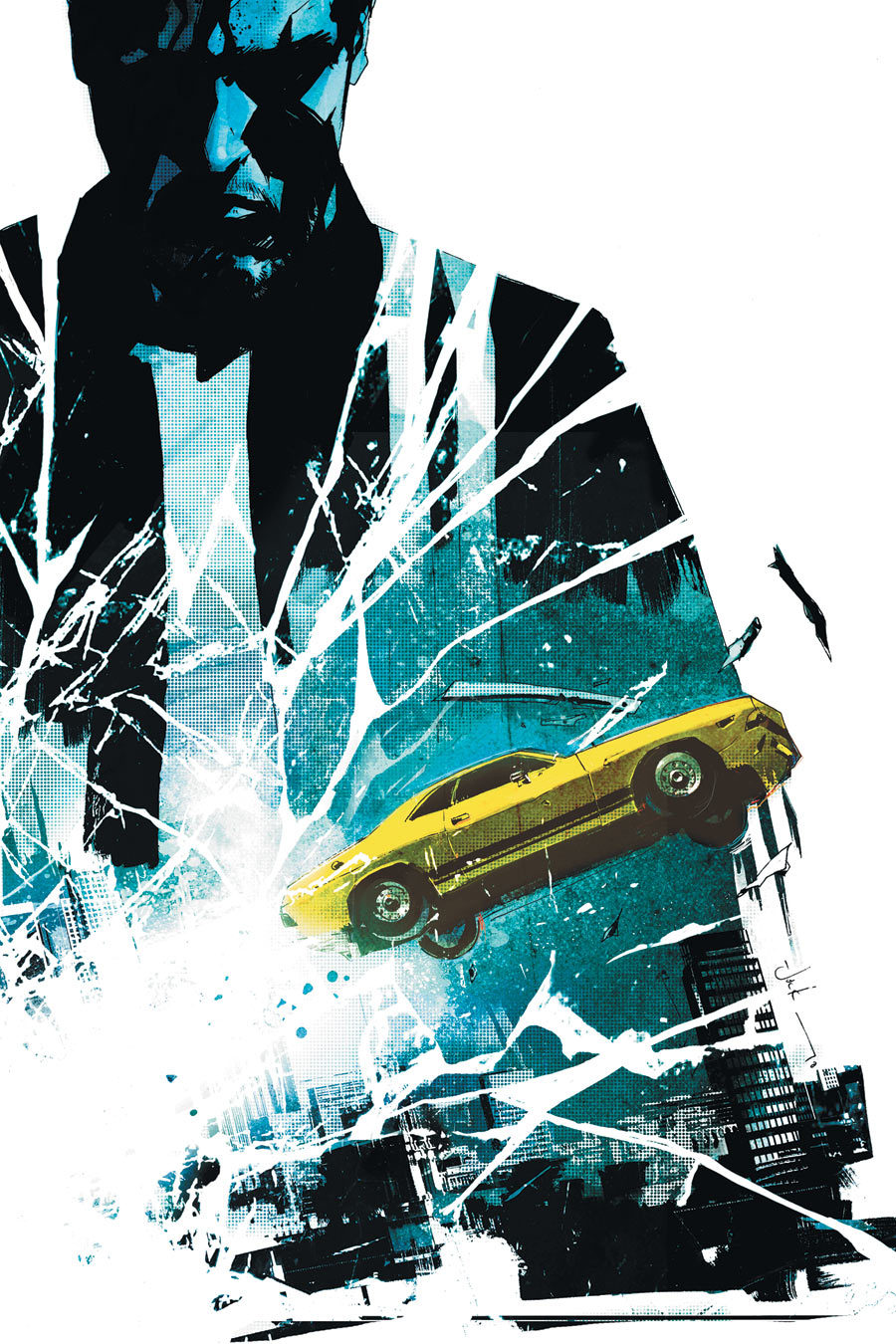 brianmichaelbendis:  Driver: Crossing The Line #1 cover by Jock!
