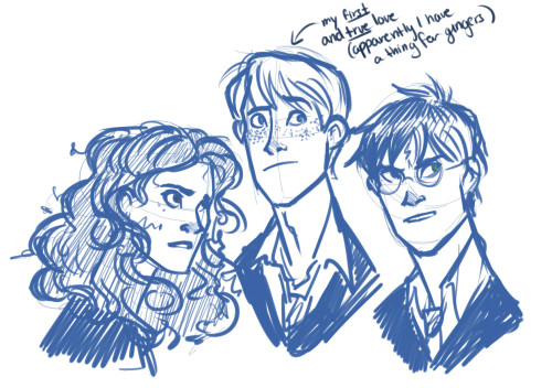 murrmernator:  shadowwalkersrise suggested some good ol' Harry Potter. So here's the golden trio.