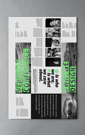 Visual communications design for Veridian sustainability conference by insprd
