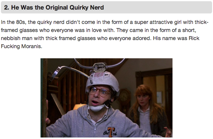 funnyordie:  7 Reasons Why Rick Moranis Needs to Make a Comeback The world misses Rick Moranis. Here's why we need him back.