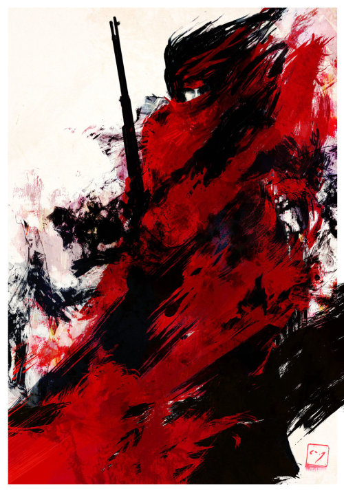 theundeadavenger:  Vincent Valentine (Final Fantasy VII) by *AJHateley