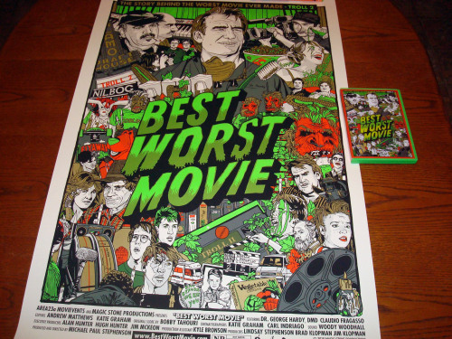 My autographed Best Worst Movie DVD and Tyler Stout Poster!