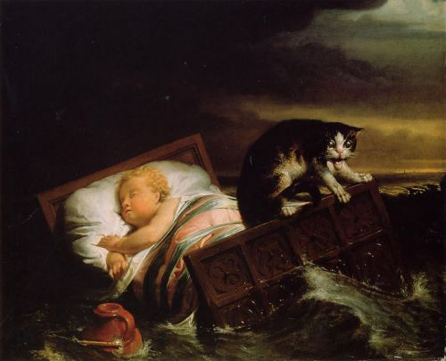 arcaneimages:           Sir Lawrence Alma-TademaThe Inundation of The Biesbosch in 1421, 1856