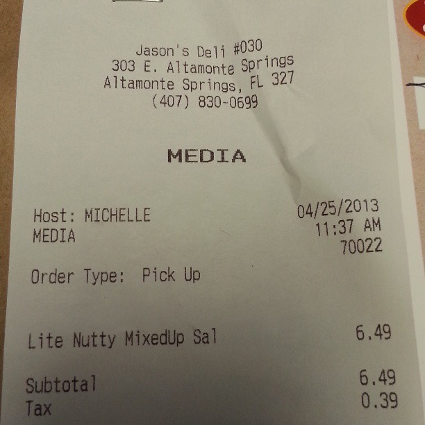 Jason's Deli seems to have a hard time with my name, but this is a first. #foreignpeopleproblems #whydiddanielgettheeasyname (at Jason's Deli)
