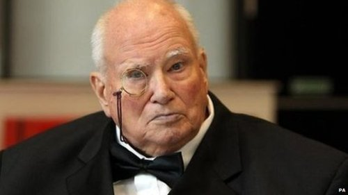 "BBC News - Sir Patrick Moore, astronomer and broadcaster, dies aged 89    British astronomer and broadcaster Sir Patrick Moore has died, aged 89, his friends and colleagues have said. Sir Patrick presented the BBC programme The Sky At Night for over 50 years, making him the longest-running host of the same television show ever. He wrote dozens of books on astronomy and his research was used by the US and the Russians in their space programmes. Described by one of his close friends as ""fearlessly eccentric"", Sir Patrick was notable for his habit of wearing a monocle on screen and his idiosyncratic style. Sir Patrick presented the first edition of The Sky at Night on 24 April 1957. He last appeared in an episode broadcast on Monday.    Sir Patrick Moore is known to Whovians for his cameo appearance (as himself) in the Eleventh Doctor's first episode, ""The Eleventh Hour."""