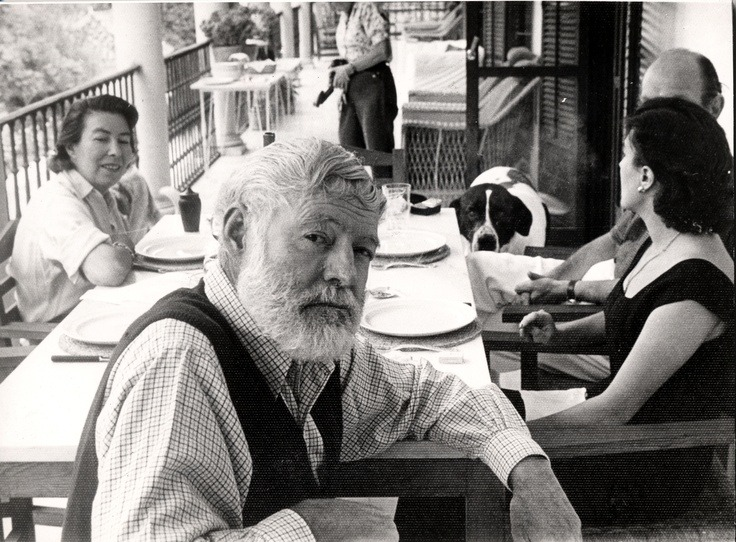 tocamelot:  Hemingway on his 60th birthday. (via Paris Review - The Art of Fiction No. 21, Ernest Hemingway)