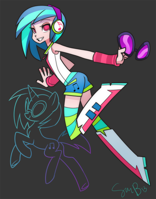 fillydelphia:  7nights:  sam-bragg:  Equestria Girl DJ Pon3  I'm a fan  Hot damn  The thing is, I know I'll be seeing more good humanizations, which is always a plus (and will hopefully bring some life back into this blog). BUT STILL
