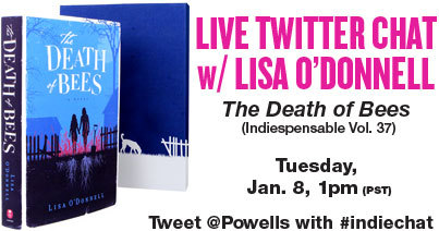 Today is the day! Join us for our live chat on Twitter with The Death of Bees author Lisa O'Donnell. (Plus, she's signing books at our Cedar Hills Crossing store tonight at 7 pm.)
