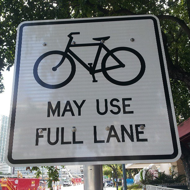 Miami is becoming more and more #bike friendly. #miamibikescene #biketoday #miami #brickell