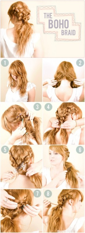 urbanetteofficial:  Eee braids:) Boho, which is so in style this spring. Flowy pants anyone?