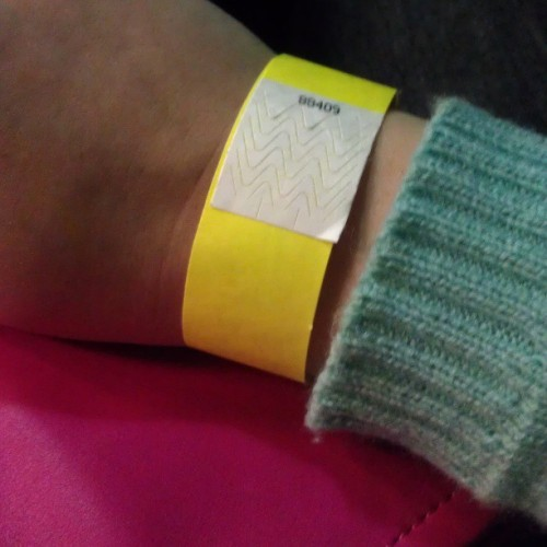 Mint, hot pink and neon yellow wrist band #goodtimes #tmbg #theymightbegiants