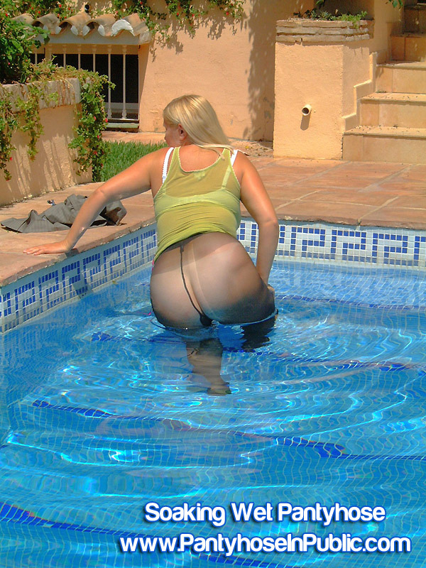 natashanylons:  would you like to play with me in the swimming pool while i am wearing my sheer pantyhose