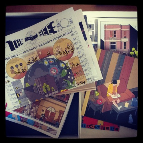Chris Ware's 'Building Stories'. - http://instagram.com/p/Zi1JtkLl4c/