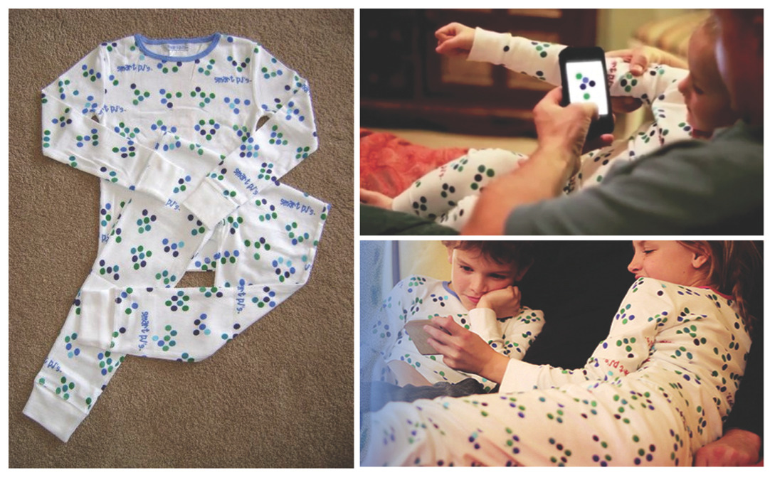 Scan the code on Pajamas, then start an automatic children's storybook on your mobile device