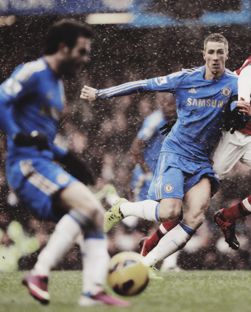 Mata & Torres vs Arsenal — January 20, 2013, at Stamford Bridge.