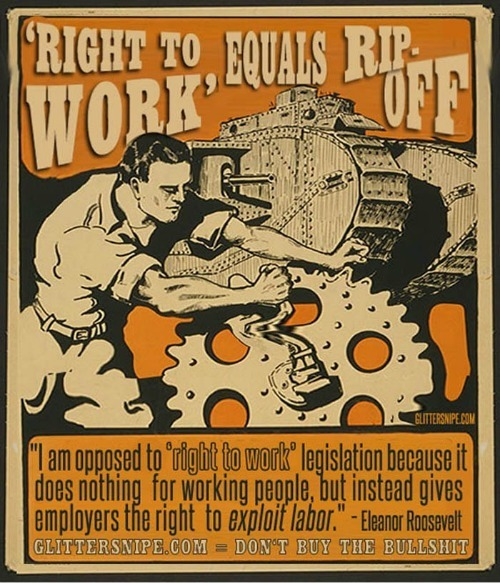Right To Work For Less is nothing more than a Corporate Servitude law