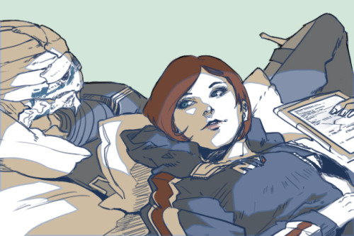 "wei723:  ""Are you sleeping, Garrus?"""