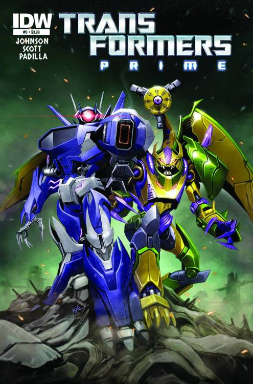 Market Monday Transformers Prime: Rage of the Dinobots #3, co-written by Mairghread Scott  SPAWNS OF SHOCKWAVE! The mind-blowing introduction of the DINOBOTS into the PRIME universe continues here! The Dinobots enter the belly of the beast in an attempt to save their comrades. But when SHOCKWAVE's minions turn the tables, GRIMLOCK will have to decide whether to beat them…or join them!