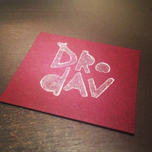 naturalcuttv:  Block Printed Business Card. My smallest format collection. www.drodav.com